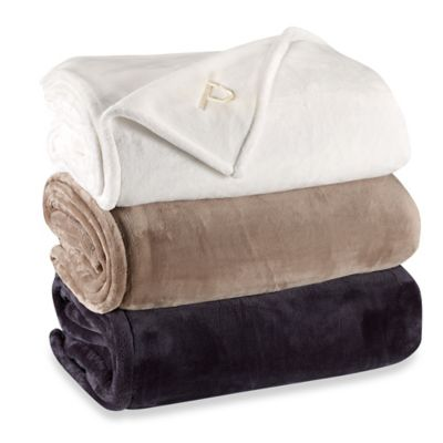 Vellux® Sheared Mink Blanket in Taupe