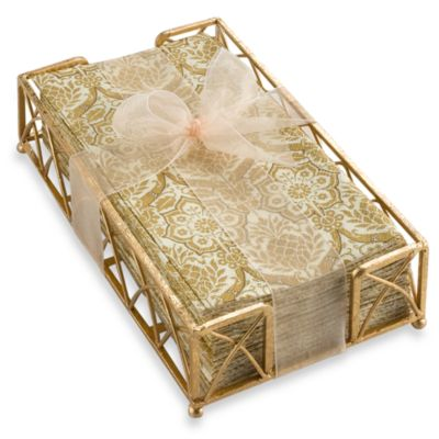 Byzantine Gold Guest Towels with Caddy