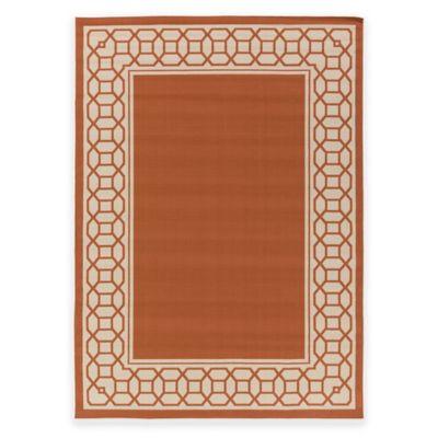 Surya Keene 2-Foot x 3-Foot Indoor/Outdoor Accent Rug in Orange