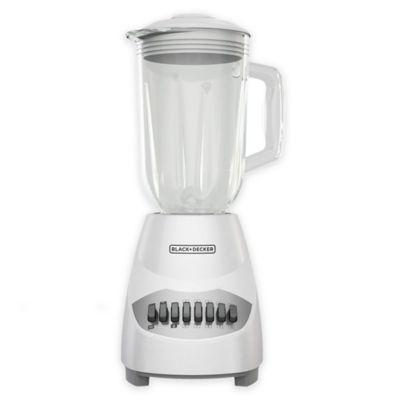 Black & Decker™ 10-Speed 6-Cup Blender with Glass Jar in White