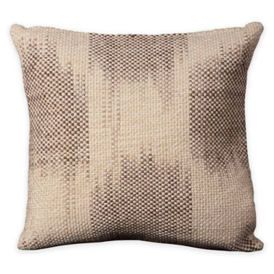 Mina Victory Life Styles Tweed Square Throw Pillow in Ivory