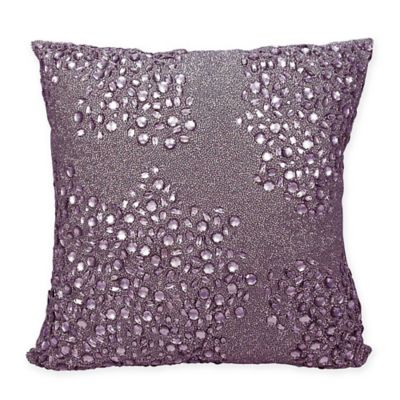 Mina Victory Fully Beaded 20-Inch Square Throw Pillow in Lavender