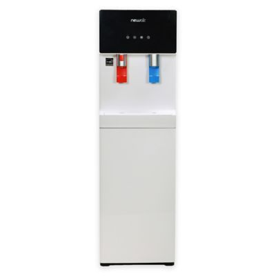 NewAir Pure Spring Bottom-Loading Hot and Cold Water Dispenser in White