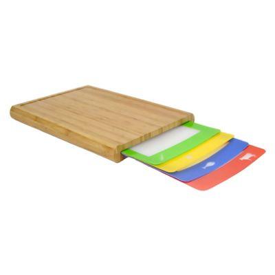 Casabella® Chop 'N Prep Cutting Board with 4 Cutting Mats