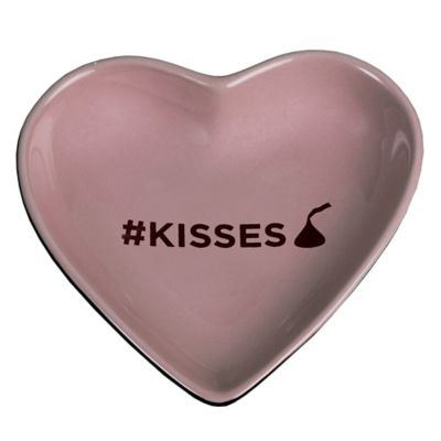 "Hershey's by Fitz and Floyd® Sweet KISSES ""#KISSES"" Heart Tidbit Dish in Lavender"