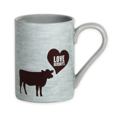 "Hershey's by Fitz and Floyd® ""Love Hershey's"" Cow Mug in Grey"