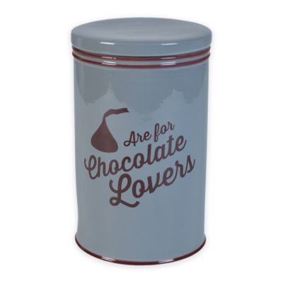 """Hershey's by Fitz and Floyd® Chocolate Lovers """"Are For Chocolate Lovers"""" Canisters (Set of 3)"""