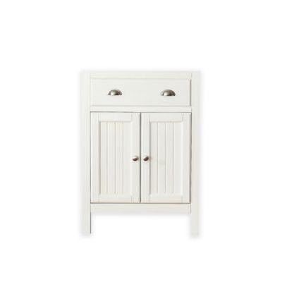 White Bath Cabinet