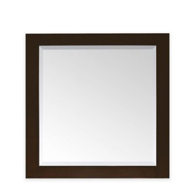 Avanity Lexington 36-Inch x 32-Inch Rectangular Mirror in Light Espresso