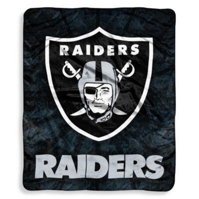 Oakland Raiders Raschel Throw