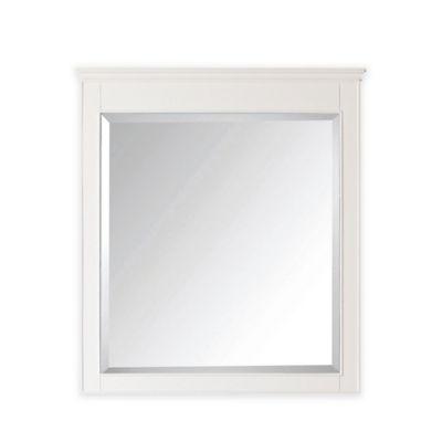 Avanity Windsor 34-Inch x 38-Inch Rectangular Mirror in White