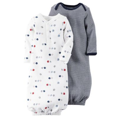 carter's® Preemie 2-Pack Babysoft Sports Sleeper Gowns