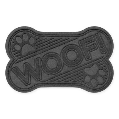Weather Guard™ 23-Inch x 35-Inch Dog Bone Door Mat in Charcoal