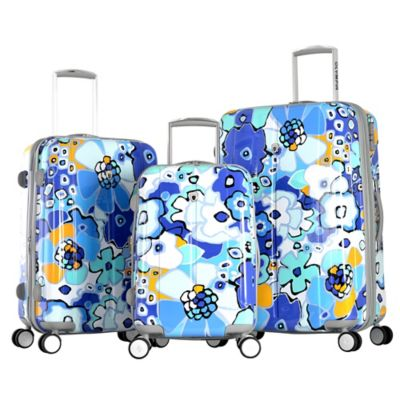 Olympia® USA Blossom II 3-Piece Hardcase Spinner Suitcase Set in Blue