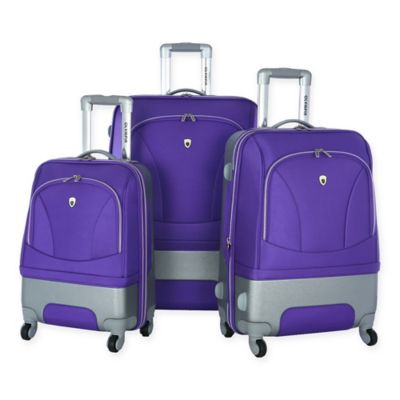 Olympia® USA Majestic 3-Piece Hybrid Spinner Luggage Set in Plum