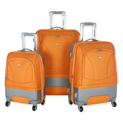 Olympia® USA Majestic 3-Piece Hybrid Spinner Luggage Set in Orange