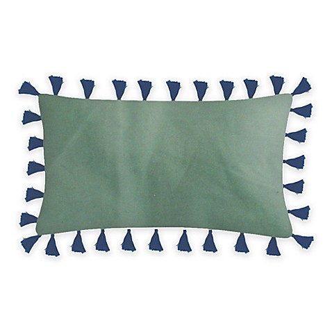 Velvet Rectangle Throw Pillow in Green - Bed Bath & Beyond