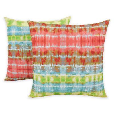 Arlee Home Fashions Tie-Dye Ladder Printed Throw Pillows (Set of 2)