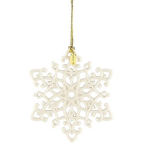 Lenox 174 2016 Snow Fantasies Snowflake Christmas Ornament