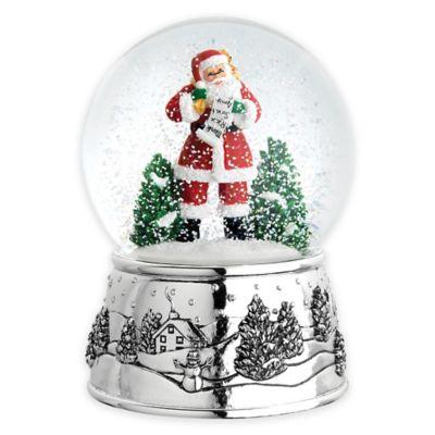 Reed & Barton Classic Christmas Santa Snowglobe