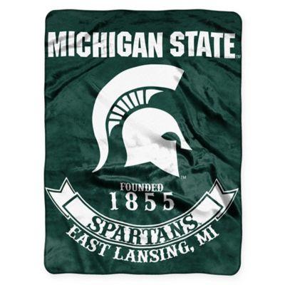 "Michigan State University ""Rebel"" Raschel Throw Blanket by The Northwest"