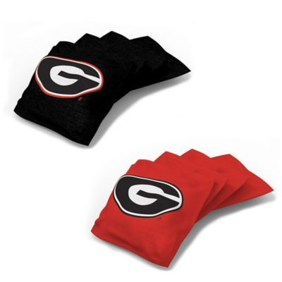 University of Georgia 16 oz. Duck Cloth Cornhole Bean Bags in Red (Set of 4)