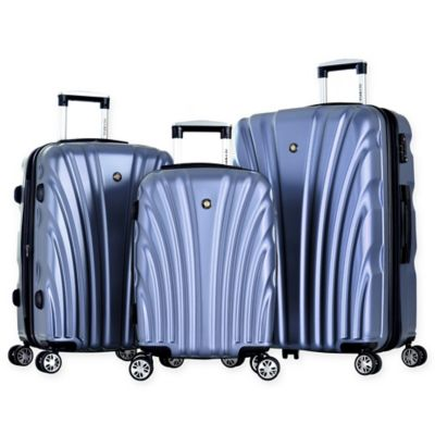 Olympia® USA Vortex 3-Piece Hardcase Spinner Suitcase Set in Icy Blue