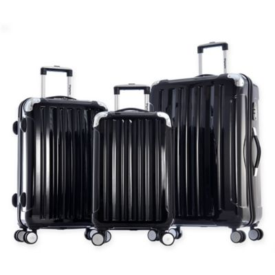 Olympia® USA Whistler 3-Piece Hardcase Spinner Suitcase Set in Black