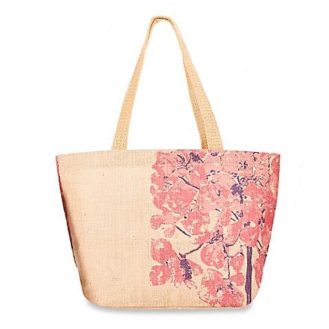 Buy thro by marlo lorenz carolina floral jute shopper tote bag in pink