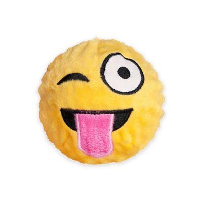 fabdog® Fabmoji Wink Emoji Faball Medium Dog Toy