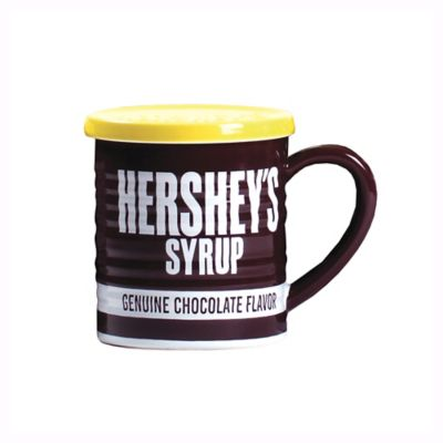 Hershey's by Fitz and Floyd® Remember Your First Hershey's Syrup Mug with Lid in Maroon