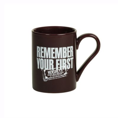 """Hershey's by Fitz and Floyd® """"Remember Your First"""" Mug in Maroon"""