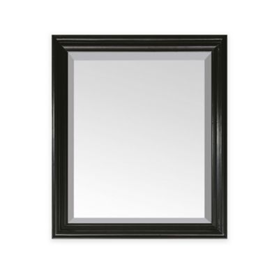 Avanity Milano 30-Inch x 26-Inch Rectangular Mirror in Black
