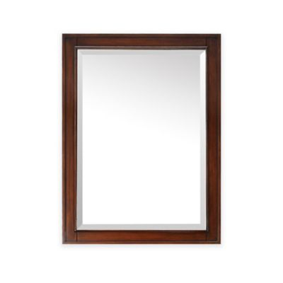 Avanity Brentwood 24-Inch x 32-Inch Rectangular Mirror in New Walnut