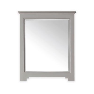 Avanity Newport 27-Inch x 32-Inch Rectangular Mirror in French Grey