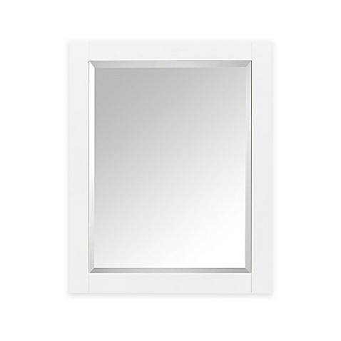 Avanity 1400 24 inch x 30 inch wood framed mirror cabinet - White wood framed bathroom mirrors ...
