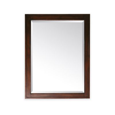 Avanity Madison 24-Inch x 32-Inch Rectangular Mirror in Tobacco