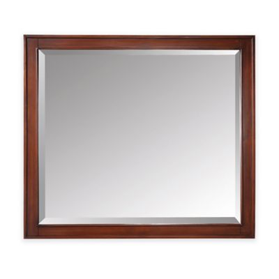Avanity Madison 36-Inch x 32-Inch Rectangular Mirror in Tobacco