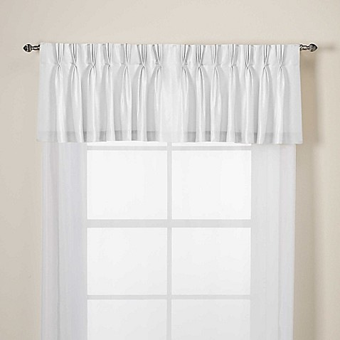 Argentina Pinch Pleat Back Tab Window Valance in White