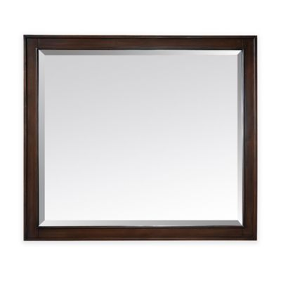 Avanity Madison 36-Inch x 32-Inch Rectangular Mirror in Light Espresso