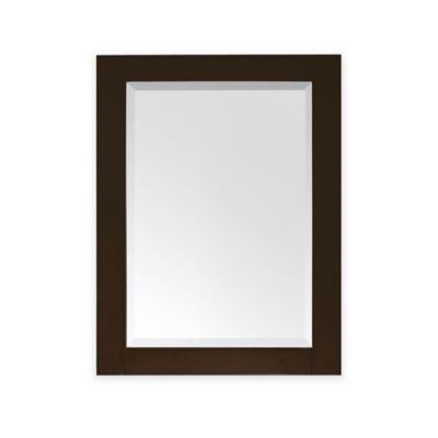 Avanity Lexington 24-Inch x 32-Inch Rectangular Mirror in Light Espresso