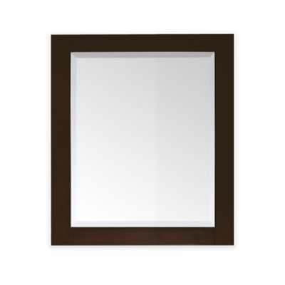 Avanity Lexington 28-Inch x 32-Inch Rectangular Mirror in Light Espresso
