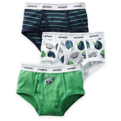 carter's® Size 2T/3T 3-Pack Football Briefs in Assorted Designs