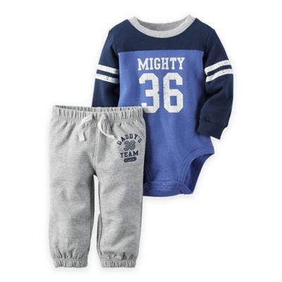 """carter's® Size 18M 2-Piece """"Mighty"""" Bodysuit and Pant Set in Blue"""