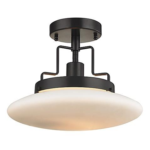 buy elk lighting anza 1 light semi flush mount in oil rubbed bronze. Black Bedroom Furniture Sets. Home Design Ideas