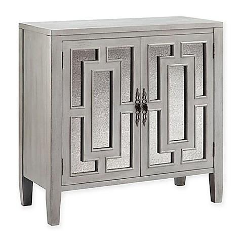stein world cade accent cabinet in smokey grey bed bath beyond