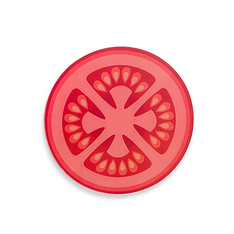 Worktop Savers 12-Inch Tomato Glass Cutting Board