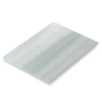 Worktop Savers 12-Inch x 15-Inch Silver Glass Cutting Board