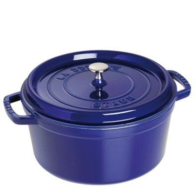Staub 9-Quart Round Cocotte in Dark Blue