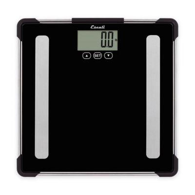 Glass Digital Body Analyzing Bath Scale in Black